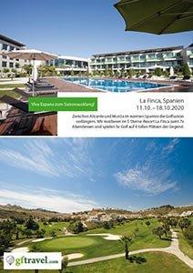 Golf-Gruppenreisen-La-Finca-2020-Oktober-Prospekt-Cover
