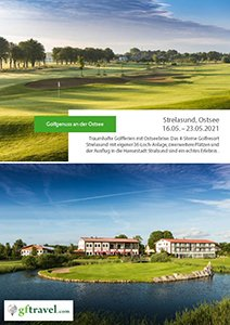 Golf-Gruppenreisen-Ostsee-Deutschland-Strelasund-2020-August-Prospekt-Cover